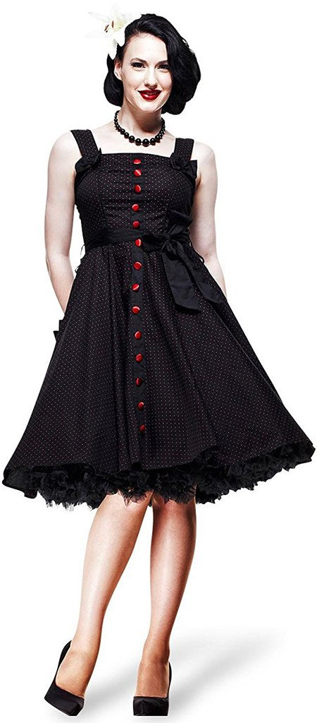 Hell Bunny Gery Polka Dress Red