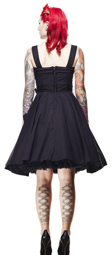 Hell Bunny Gery Polka Dress Purple