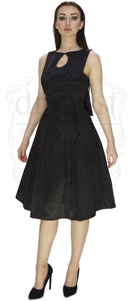 Keen about Tear Drop, Keyhole Dress in Black.