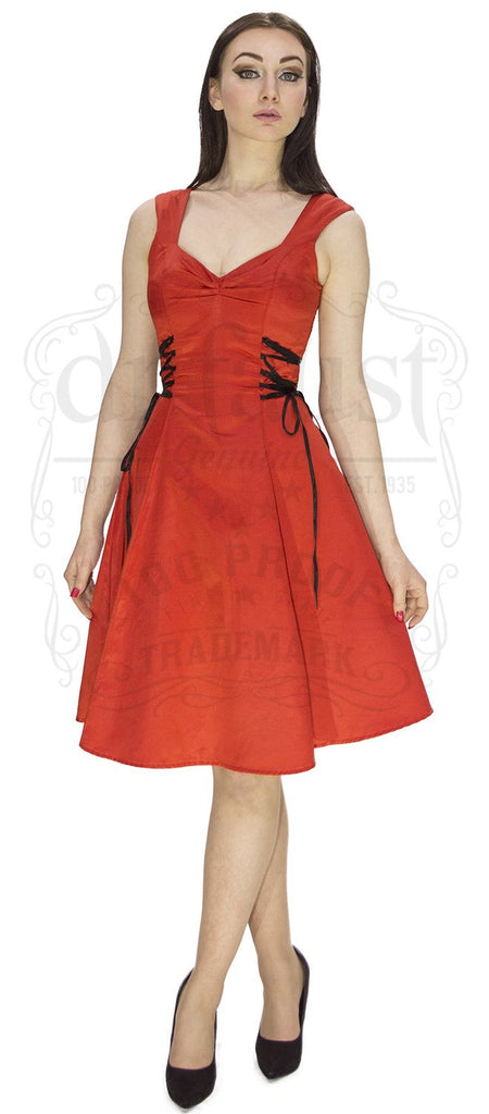 Sophisticated Silk Situation Dress in Red