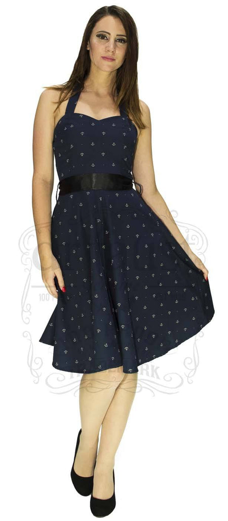 Navy Blue Along the Shore Sailor Dress