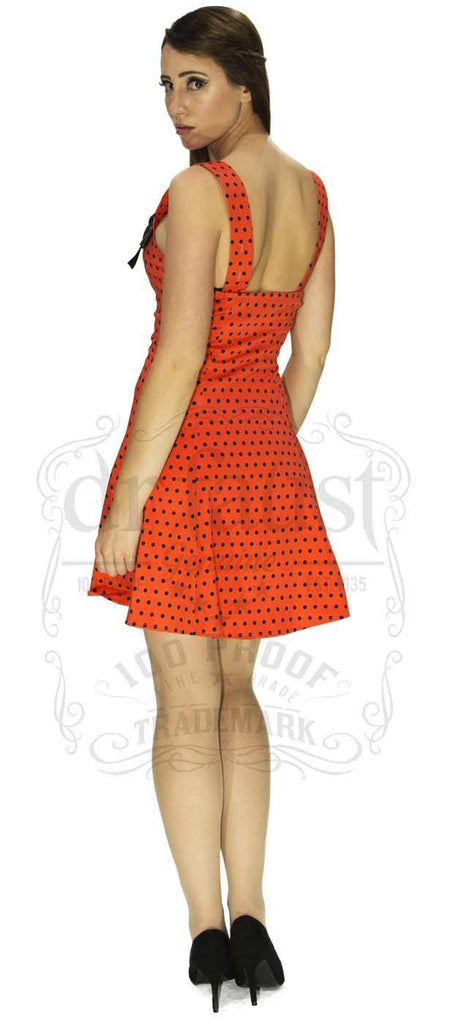 The Awesome Polka Play Dress in Red.
