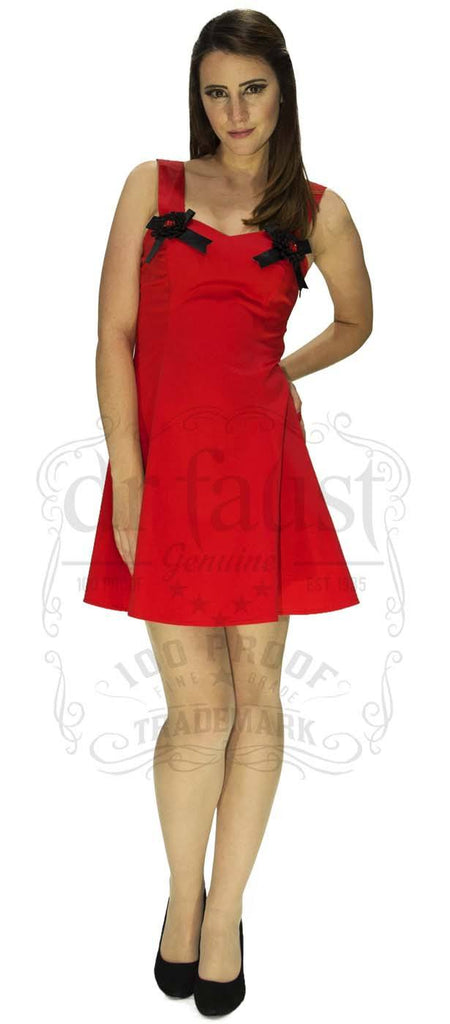 Lauren Fitted Dress in Red