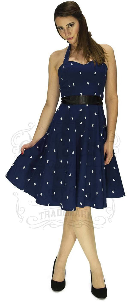 Oh Sailor Yacht Dress in Navy