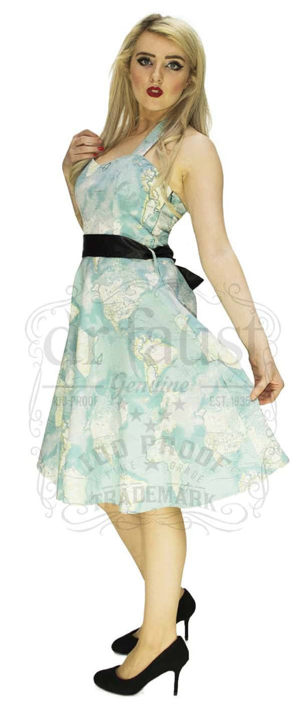 Signature Artisan Map Dress in Pastels