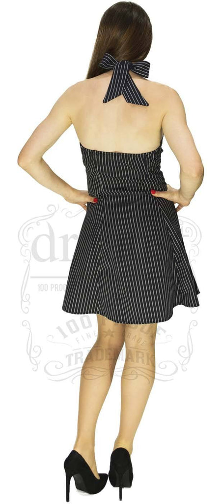 Shaping Madness Dress in Pin Stripes