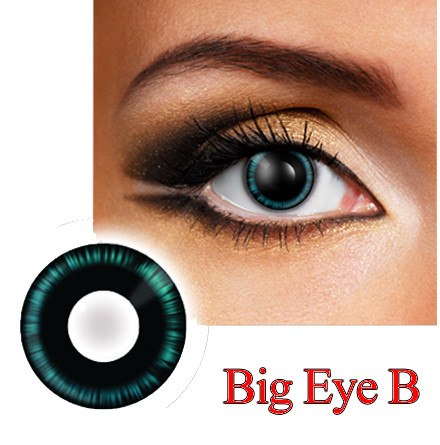 Big Eye Blue Cosplay & Anime Contact Lenses