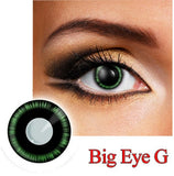 Big Eye Green Cosplay & Anime Contact Lens. Color Contact Lens, D5 30 Days, Finish off the final touch of the Dress by wearing super bright Color Contact Lens.     Crazy Colour Contact Lense.