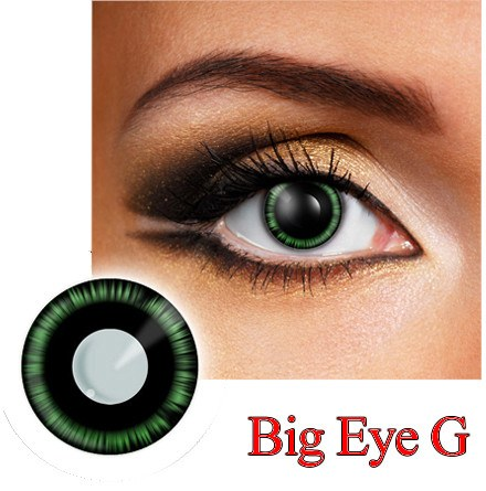 Big Eye G Dress Contact Lens in Green and Black.