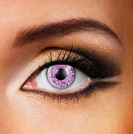 Colored Natural 'Violet' Dress Contact Lens in Purple.