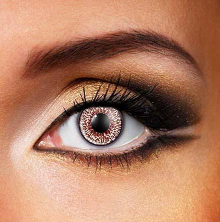 Coloured Natural Dark Brown Dress 'Contact Lense'
