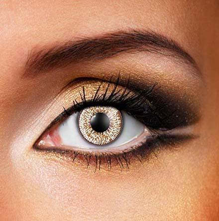 Coloured Natural Hazel Brown 'Contact Lense'