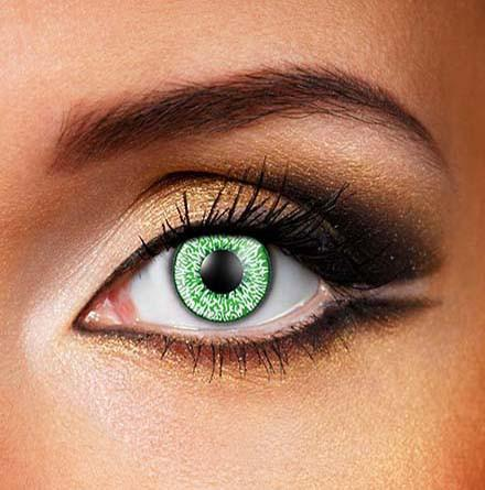 Natural Bright Green Fashion Contact Lens. Color Contact Lens, T2 30 Days, Finish off the final touch of the Dress by wearing super bright Color Contact Lens.  Coloured Natural Green