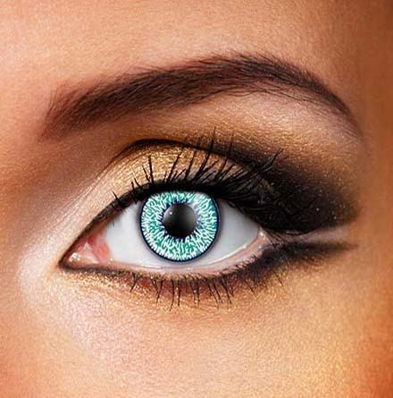 Natural Bright Sea Aqua Green Fashion Contact Lens. Color Contact Lens, T2 30 Days, Finish off the final touch of the Dress by wearing super bright Color Contact Lens.  Coloured Natural Sea Aqua Green