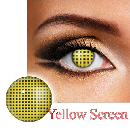 Yellow Screen Halloween and Party Contact Lense