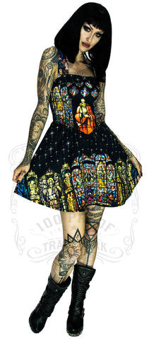 Mc Queen Violet Purple Skulls and Roses Dress.
