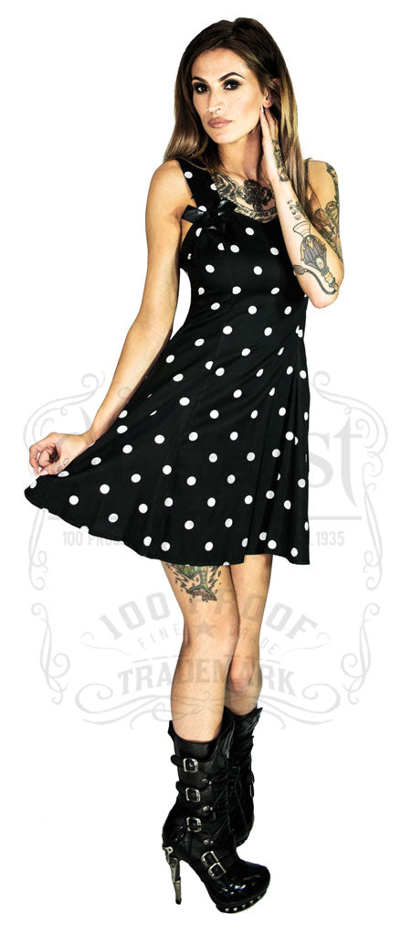 Limited Edition French Black Polka Connection Style Dot Black Dress