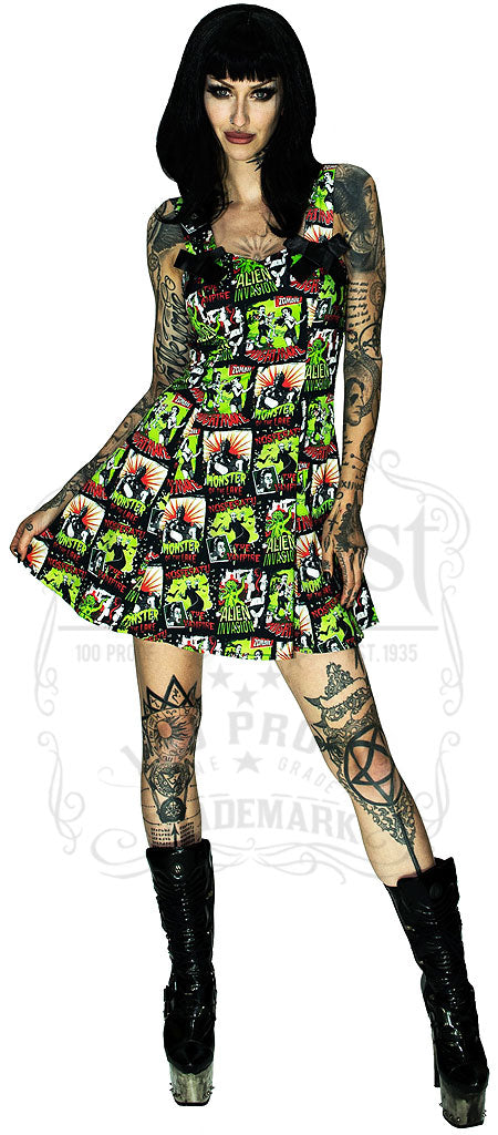 Nightmare Horror Dress, highlightling Zombie Chase, Lake Monster, Alien Invasion, Nosferatu the Vampire, Alternative X Black Dress