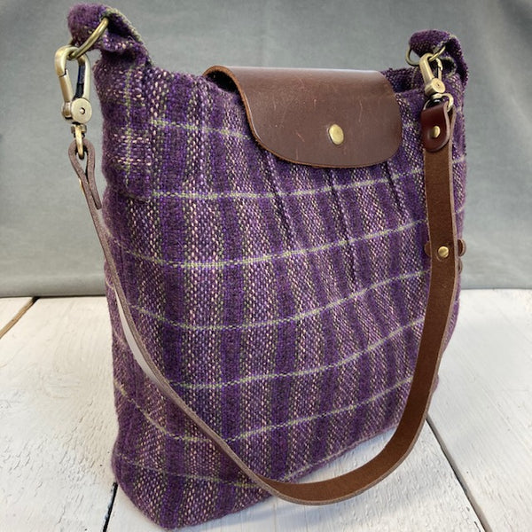 Plaid Shoulder Tote Bag