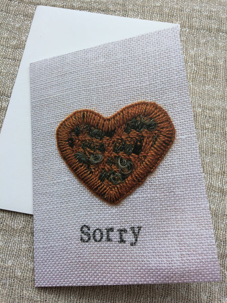 'Sorry' Greetings Cards