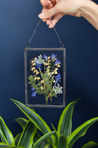 Pressed flower wall hanging - Lilly of the valley
