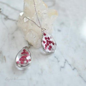 Red Caspia teardrop pendant