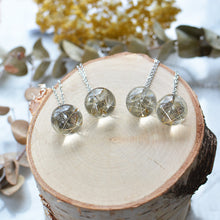 Load image into Gallery viewer, Dandelion seeds, small 2 cm sphere necklace