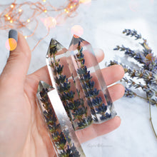 Load image into Gallery viewer,  FRENCH LAVENDER  terrarium, Natural crystal point