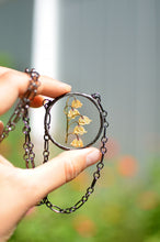 Load image into Gallery viewer, Eternal Summer botanical necklace - Pressed Lilly of the valley