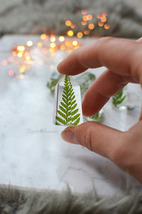 Handmade Mini Fern Crystal - set of 6 psc