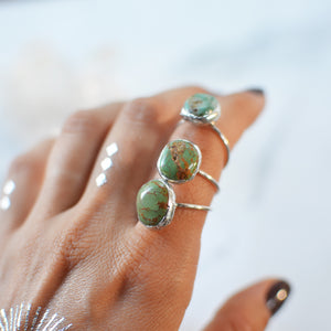 Green Impression Jasper silver ring