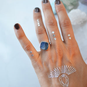 Blue Kyanite silver ring