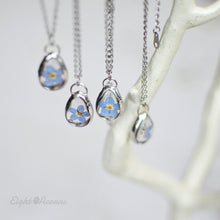 Load image into Gallery viewer, Forget me not teardrop pendant