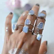 Load image into Gallery viewer, Blue Lace Agate silver ring