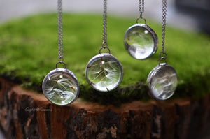 Dandelion Seed pendant - Make A Wish