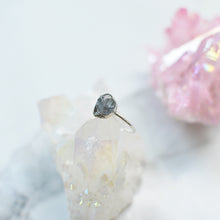 Load image into Gallery viewer, Clear Rock Crystal silver ring