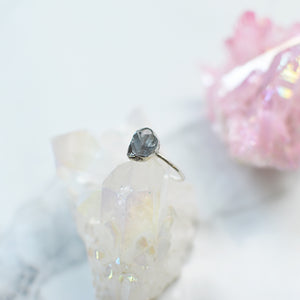 Clear Rock Crystal silver ring