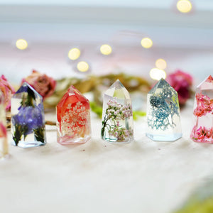 Handmade mini floral crystal - set of 6 psc