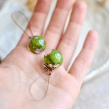 Load image into Gallery viewer, Fern sphere earrings