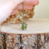Moss necklace resin jewelry, terrarium necklace woodland necklace