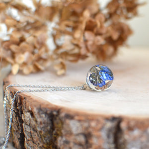 Forget me not necklace small sphere necklace