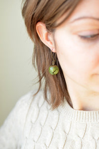 Fern sphere earrings