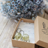 Floral earrings queen anne's lace
