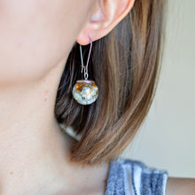 Load image into Gallery viewer, (Wholesale) Real daisy sphere earrings