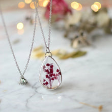 Load image into Gallery viewer, Red Caspia teardrop pendant