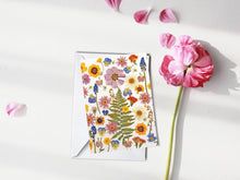 Load image into Gallery viewer, Summer Garden Flowers - Pressed flower collection card