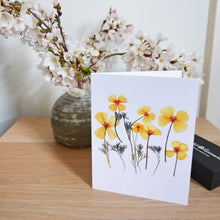 Load image into Gallery viewer, California Poppy - Pressed flower collection card