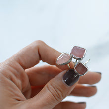 Load image into Gallery viewer, Pink Rose Quartz silver ring