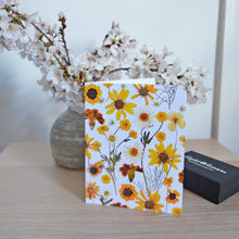 Load image into Gallery viewer, Yellow Flower Mix - Pressed flower collection card