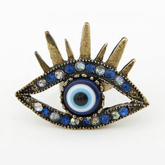 Evil Eye Protection - Eye of the Grigori Angels - Gypsy Magic - Protective Talisman Ring - 13 Black Cats